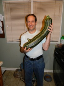 Me with Huge Zucchini